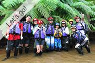西表島・アダナデの滝カヌー&シャワートレッキングツアー「滝つぼ遊び」