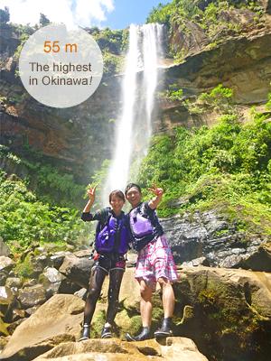 西表島ピナイサーラの滝ツアー滝つぼは落差55m