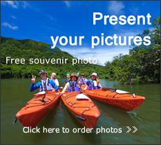 西表島の記念に写真をプレゼント