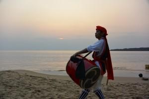 海開き2014前夜祭_エイサー2